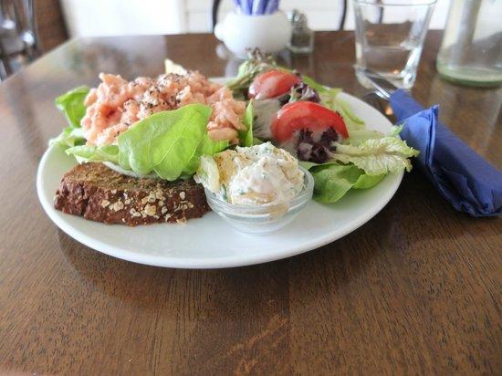 The Rivers End: Open prawn sandwich