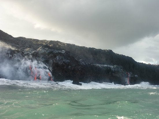 Captain Gene's Lava Boat Tours: Lava flow