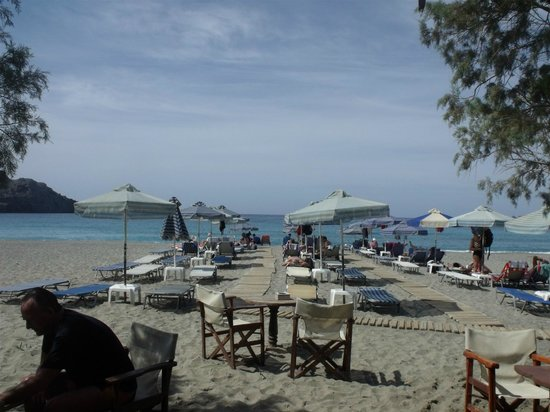 Hotel Porto Plakias: Beach Bar  - excellent access to the sea