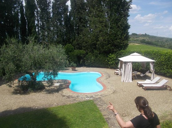 Ciao Laura Day Excursions : Pool at Villa La Quercia