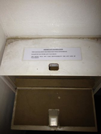 Check Inn Regency Park: Dirt on the security box that belongs in a museum. They should be wiping this clean