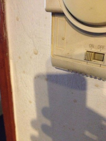 Check Inn Regency Park : Dirt on and around the thermostat!!! Seriously? Shame on the hotel's management to allow this.