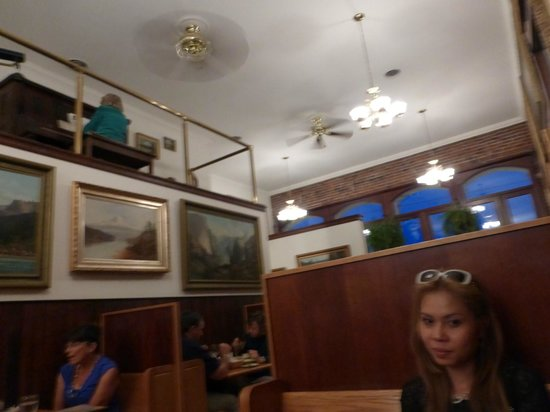 Baldwin Saloon: Notice the piano player in the upper left? She played old time melodies throughout dinner.