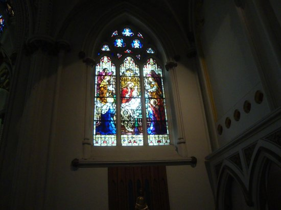 "St. Mary's Basilica: ""The Death of Saint Joseph"" stained glass window"