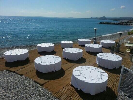 Art Beach: table des invité pour le mariage