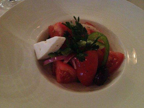Estiatorio Milos : Стартер (греческий салат)