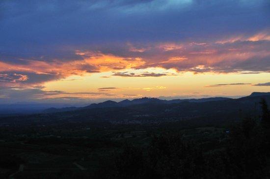 Sunset from Le Mas des Vignes, August 2013