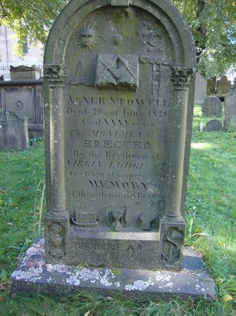 Old Burying Ground: Tombstone of a third degree Mason