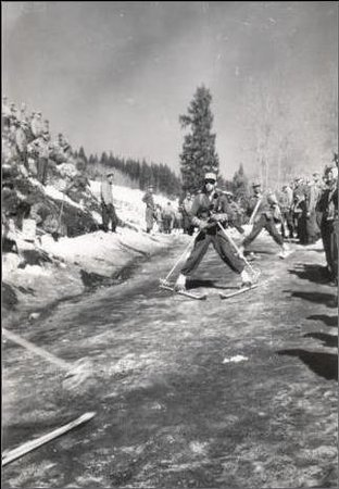 At Camp Hale in the 1940's