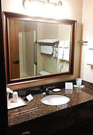Comfort Inn & Suites Ponca City: Bathroom vanity.