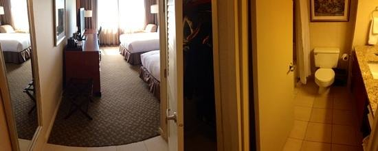 Hilton New York JFK: Standard double room, overview