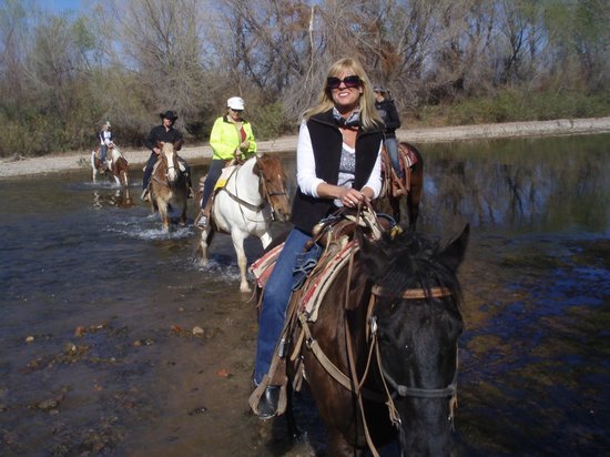 Fort McDowell Adventures: yep, crossing the verde river the second time, same trip