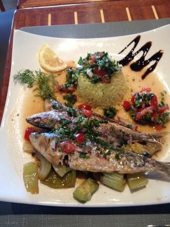 Le Ker Bleu : sardines grillées sauce vierge