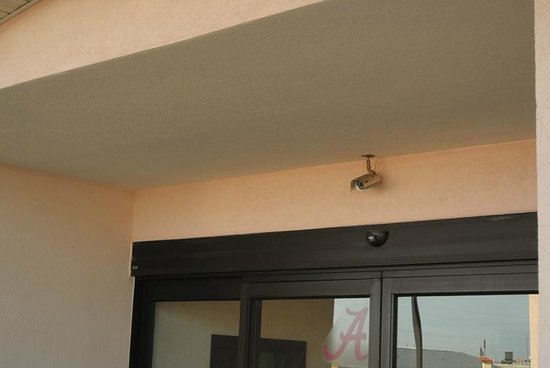 Quality Inn: Security Camera at Main Entrance
