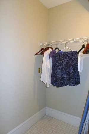 Hotel 340: Rudimentary closet in passage between entry hall and Bath 1.