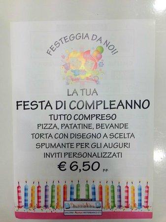 Misterbianco, إيطاليا: Feste di compleanno TUTTO COMPRESO € 6,50