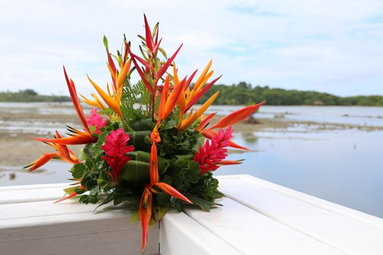 Koro Sun Resort and Rainforest Spa: You could even make your own flower arangement