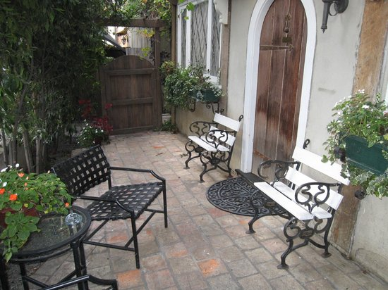 The Charlie: Patio outside room