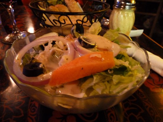 Jay's Gourmet Pizza & Seafood: house salad-nice selection of fresh veggies in there!