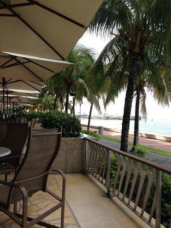 Hyatt Regency Trinidad: Outside terrace for breakfast/dinner etc