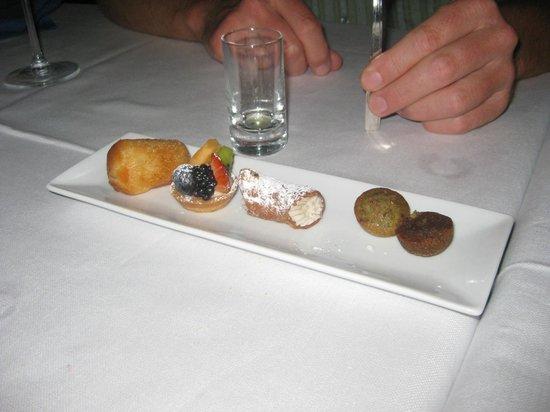 Chef Squillante al Ghibli: Mini desserts and limoncello