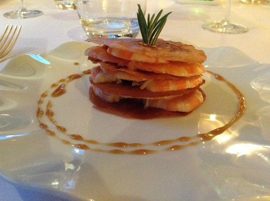 Restaurant Thierry Arbeau: Millefoglie di Gamberetti