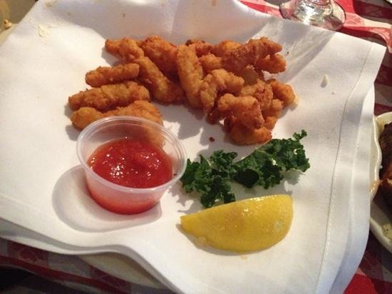 The Lobster House: last half of clam strip order - napkin still clean!