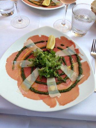Assiette: wonderful Carpaccio as entry