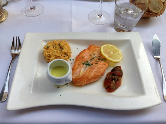 Assiette: Salmon as main dish (As always)