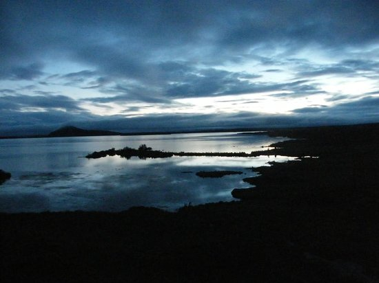 Hotel Reykjahlid: Views from room at sunset...