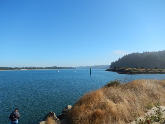 Winchester Bay RV Resort: Fishing on the bay