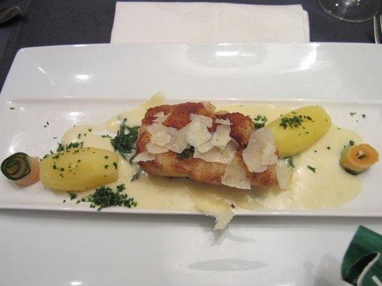 Georges - seafood: Cod in a Parmesan crust