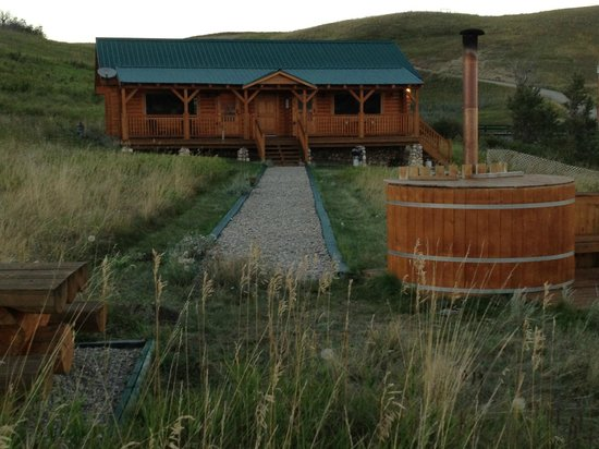 View of Waterton River Suites and hot tub