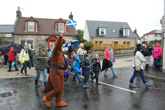 The Carnock Inn: An annual school parade in progress