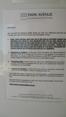 Glenview Glen Waverley Apartments: Notice 3