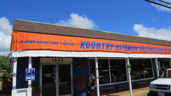 Outside Kountry Kitchen - Picture of Kountry Kitchen, Kapaa ...