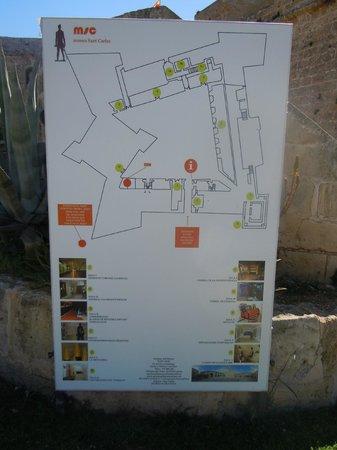 Castell de Sant Carles: Pal du site