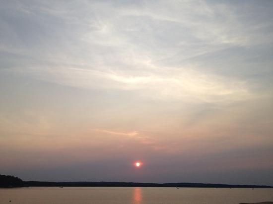 The 502 Restaurant : Sunset on Leech Lake