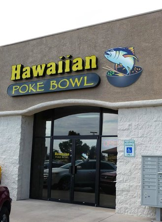 Hawaiian Poke Bowl: From the front.