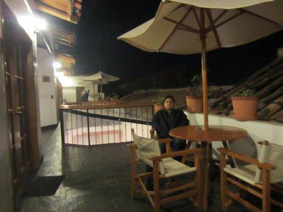 Casa San Blas Boutique: outside the suite taking a break