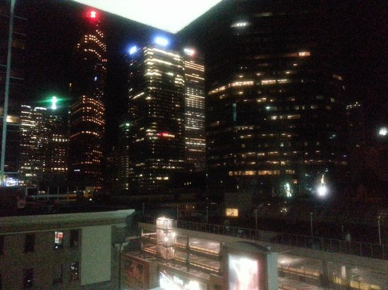 Yonge Suites Furnished Apartments : Night view from balcony