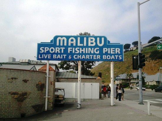 Malibu Pier: The sign.