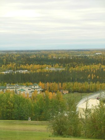 University of Alaska Fairbanks: View from the stairway