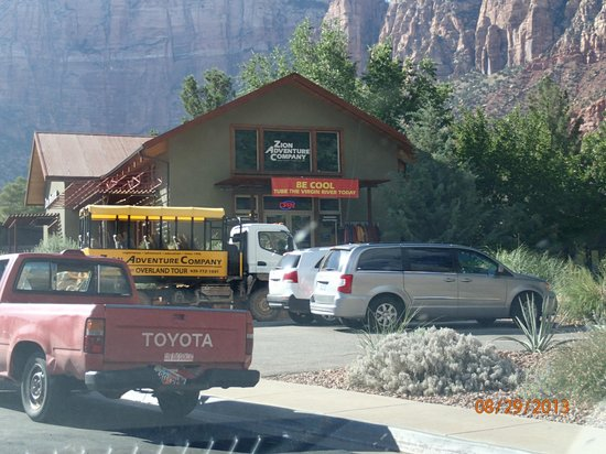 Zion Adventure Company : Exiting the park, Zion Adventure will be on your Right!