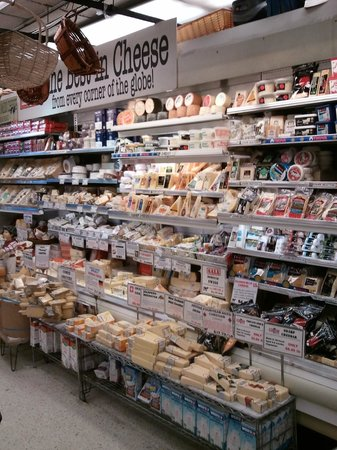 Zabar's: only a part of the cheese section