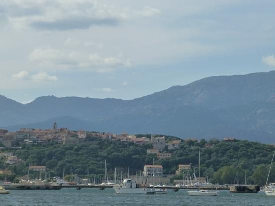 Hôtel Le Pinarello : vue sur porto vecchio