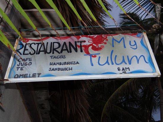 My Tulum Cabanas: RESTAURANT