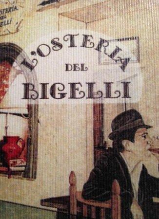 L'Osteria del Bigelli: Il bigliettino ...
