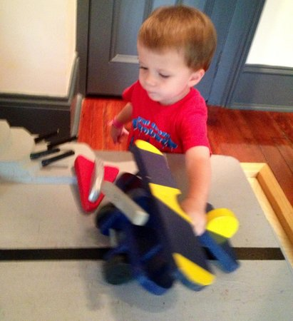 Pensacola Children's Museum: Boys love the aircraft carrier room