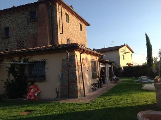 La Casa Medioevale : View from the garden at the sunset in September